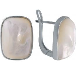 Серебряные серьги SilverBreeze с кошачим глазом (2005940)
