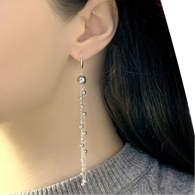 Серебряные серьги SilverBreeze без камней (2005506)