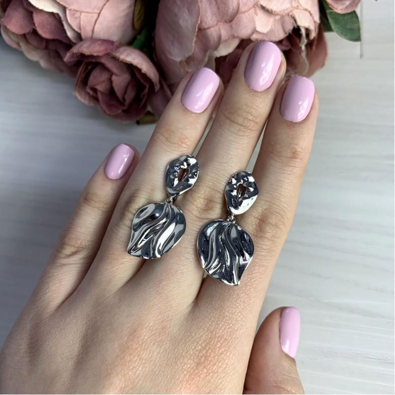 Серебряные серьги SilverBreeze без камней (2005575)