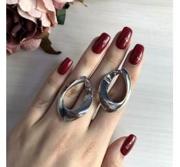 Серебряные серьги SilverBreeze без камней (2031321)