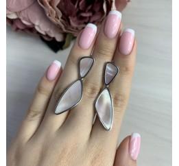 Серебряные серьги SilverBreeze с натуральным перламутром (2041641)