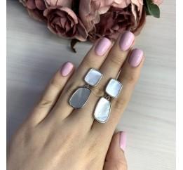 Серебряные серьги SilverBreeze с натуральным перламутром (2041764)
