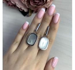 Серебряные серьги SilverBreeze с натуральным перламутром (2041801)