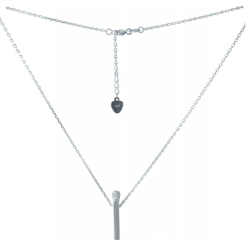 Серебряное колье SilverBreeze с фианитами (2005582) 480 размер