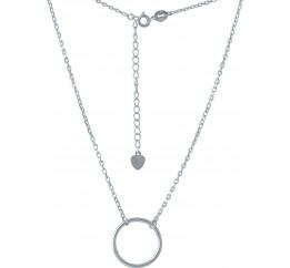 Серебряное колье SilverBreeze без камней (2005612) 360400 размер