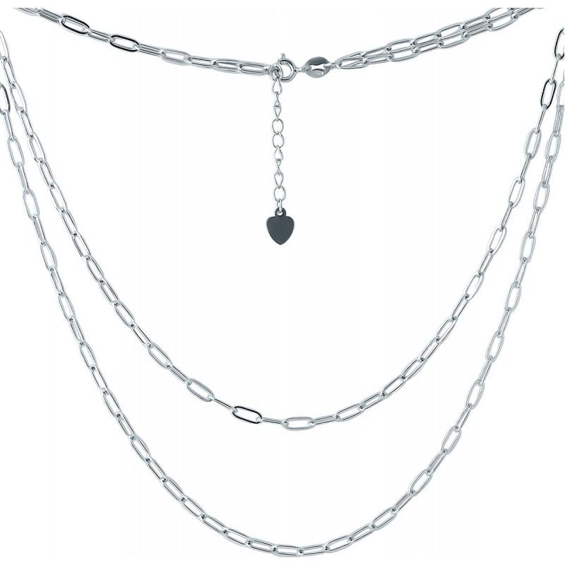 Серебряное колье SilverBreeze без камней (2005629) 440 размер