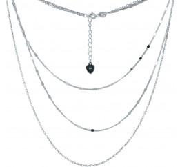 Серебряное колье SilverBreeze без камней (2005650) 450 размер
