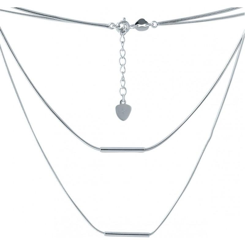 Серебряное колье SilverBreeze без камней (2005667) 440 размер
