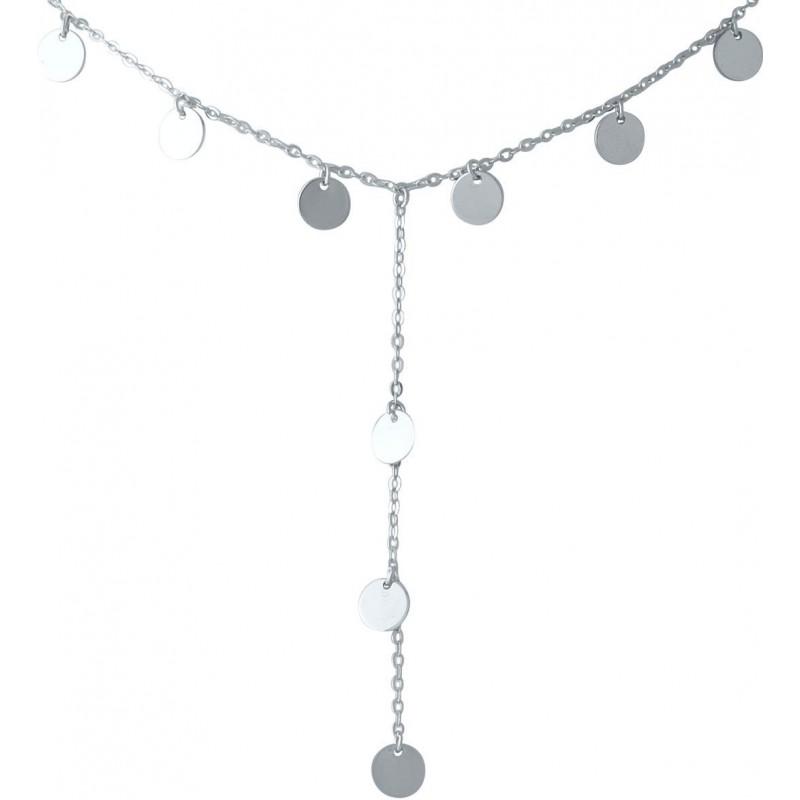 Серебряное колье SilverBreeze без камней (2014300) 5760 размер