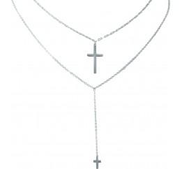 Серебряное колье SilverBreeze без камней (2022138) 5760 размер