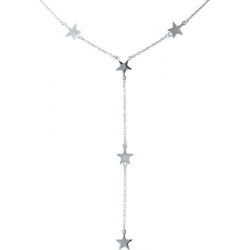 Серебряное колье SilverBreeze без камней (1983041) 6063 размер
