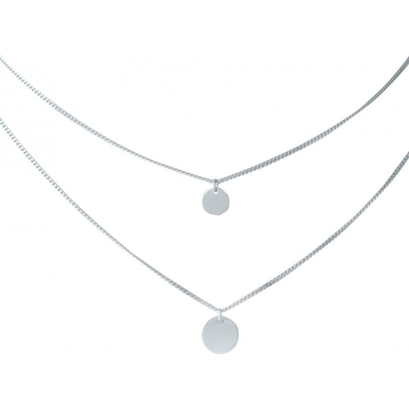 Серебряное колье SilverBreeze без камней (1983171) 420 размер