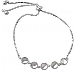 Серебряный браслет SilverBreeze с натуральным перламутром (2044543) 1720 размер
