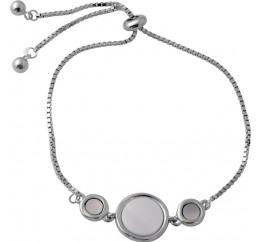 Серебряный браслет SilverBreeze с натуральным перламутром (2046790) 1720 размер