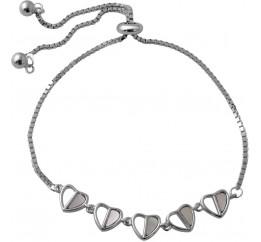 Серебряный браслет SilverBreeze с натуральным перламутром (2046806) 1720 размер