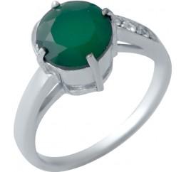 Серебряное кольцо SilverBreeze с натуральным агатом (2044789) 17.5 размер
