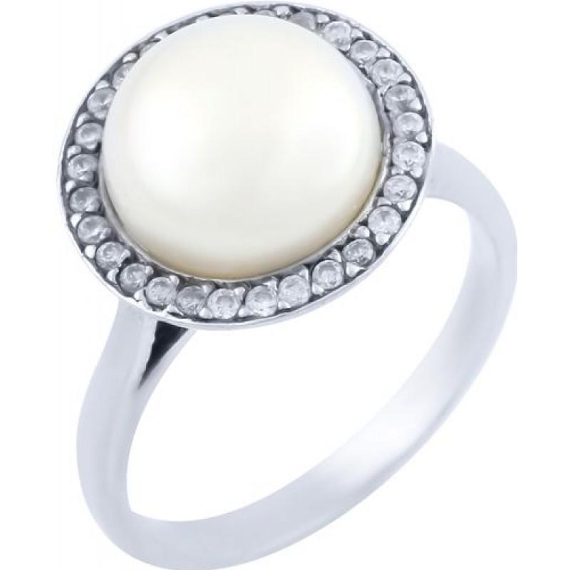 Серебряное кольцо SilverBreeze с натуральным жемчугом (0366555) 17.5 размер