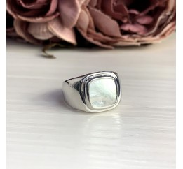 Серебряное кольцо SilverBreeze с натуральным перламутром (2046844) 17 размер