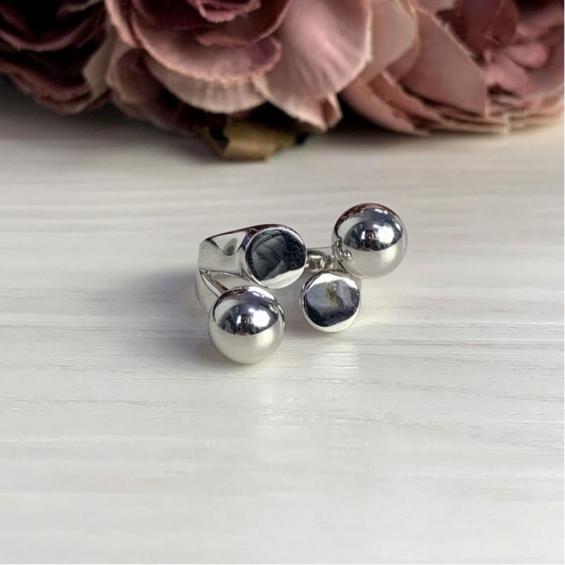 Серебряное кольцо SilverBreeze без камней (2046929) 18 размер