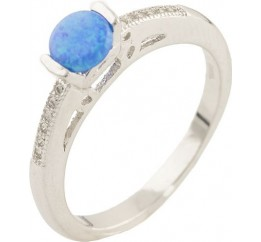 Серебряное кольцо SilverBreeze с опалом (0533681) 18 размер