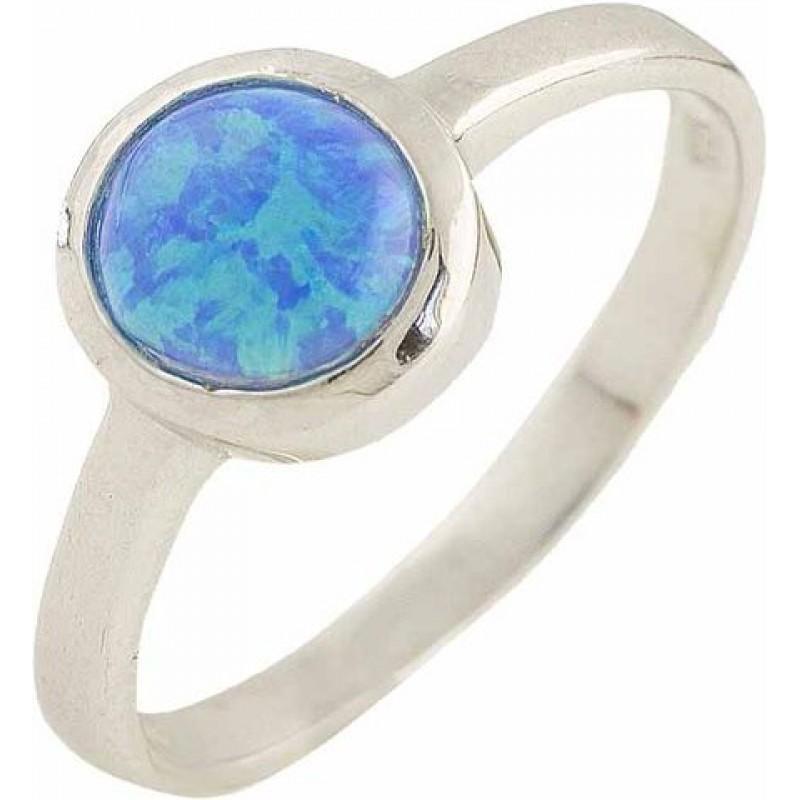 Серебряное кольцо SilverBreeze с опалом (0566979) 17.5 размер