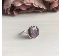 Серебряное кольцо SilverBreeze с кошачим глазом (2005964) 17.5 размер