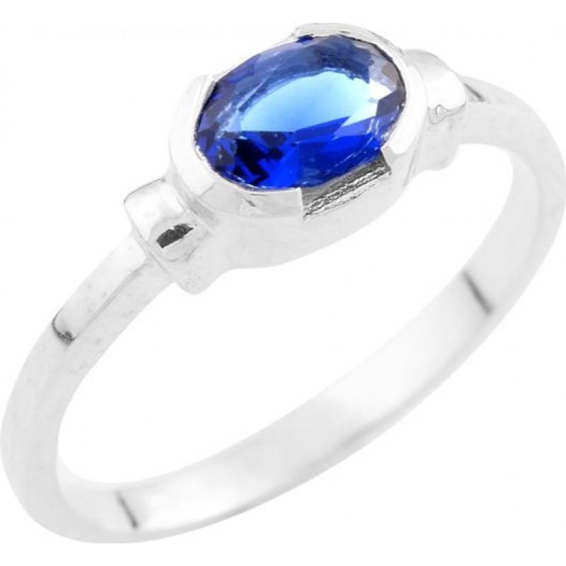 Серебряное кольцо SilverBreeze с сапфиром nano (0948164) 18 размер