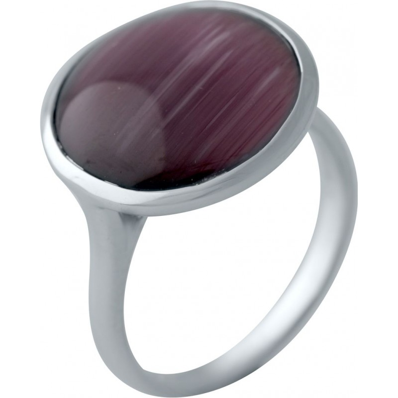 Серебряное кольцо SilverBreeze с кошачим глазом (2005964) 16.5 размер