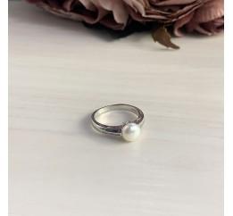 Серебряное кольцо SilverBreeze с натуральным жемчугом (2006381) 17.5 размер
