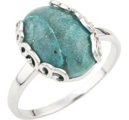 Серебряное кольцо SilverBreeze с натуральным амазонитом (1086742) 16.5 размер