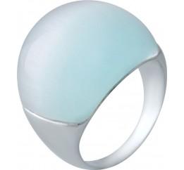 Серебряное кольцо SilverBreeze с кошачим глазом (1956731) 18 размер