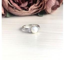 Серебряное кольцо SilverBreeze с натуральным жемчугом (2043973) 16 размер