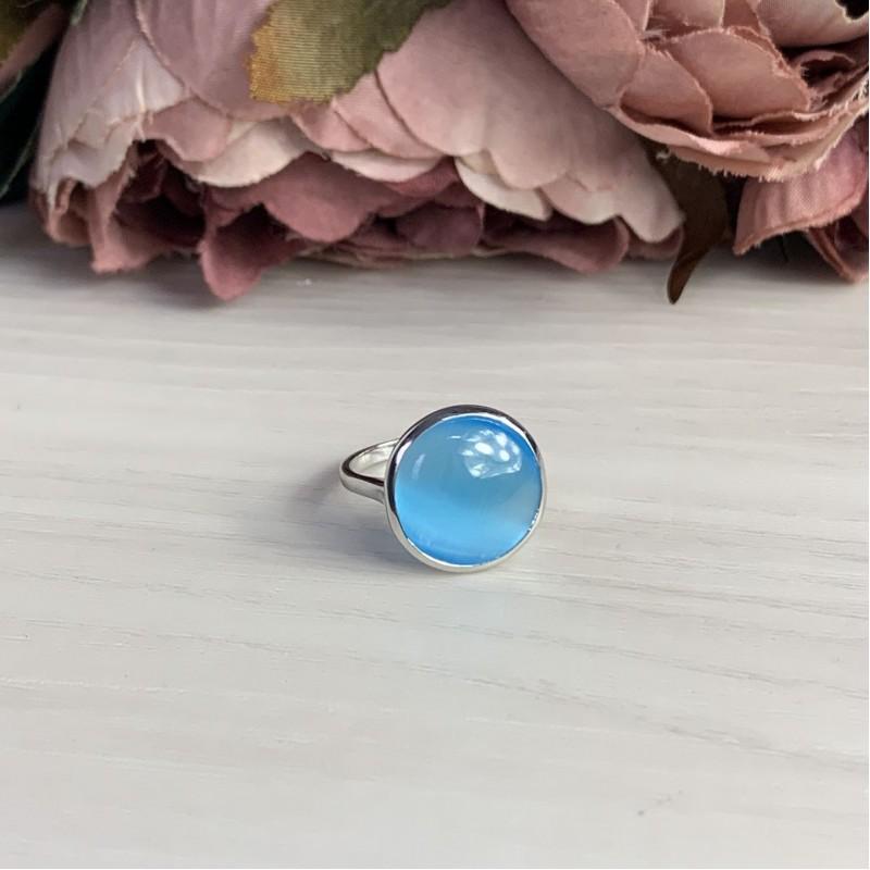 Серебряное кольцо SilverBreeze с кошачим глазом (1945186) 17.5 размер