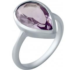 Серебряное кольцо SilverBreeze с натуральным аметистом (2043096) 17.5 размер