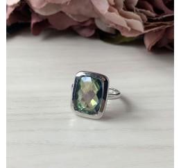 Серебряное кольцо SilverBreeze с натуральным мистик топазом (2043478) 18.5 размер