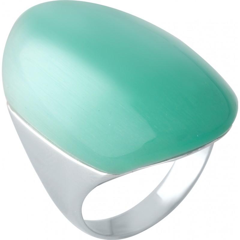 Серебряное кольцо SilverBreeze с кошачим глазом (1955475) 17 размер