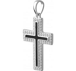 Серебряный крестик SilverBreeze с ониксом (2044550)