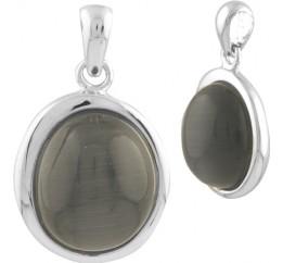 Серебряная подвеска SilverBreeze с кошачим глазом (1739549)