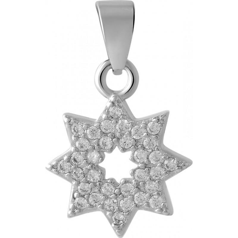 Серебряная подвеска SilverBreeze с фианитами (2044369)