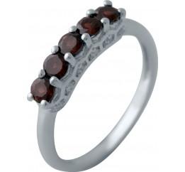 Серебряное кольцо SilverBreeze с натуральным гранатом (2035152) 17.5 размер