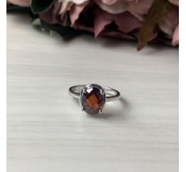 Серебряное кольцо SilverBreeze с натуральным гранатом (2035039) 18 размер