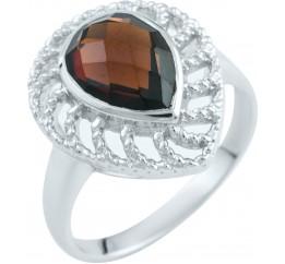Серебряное кольцо SilverBreeze с натуральным гранатом (1903285) 18 размер