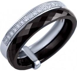 Серебряное кольцо SilverBreeze с , керамикой (1904091) 17 размер