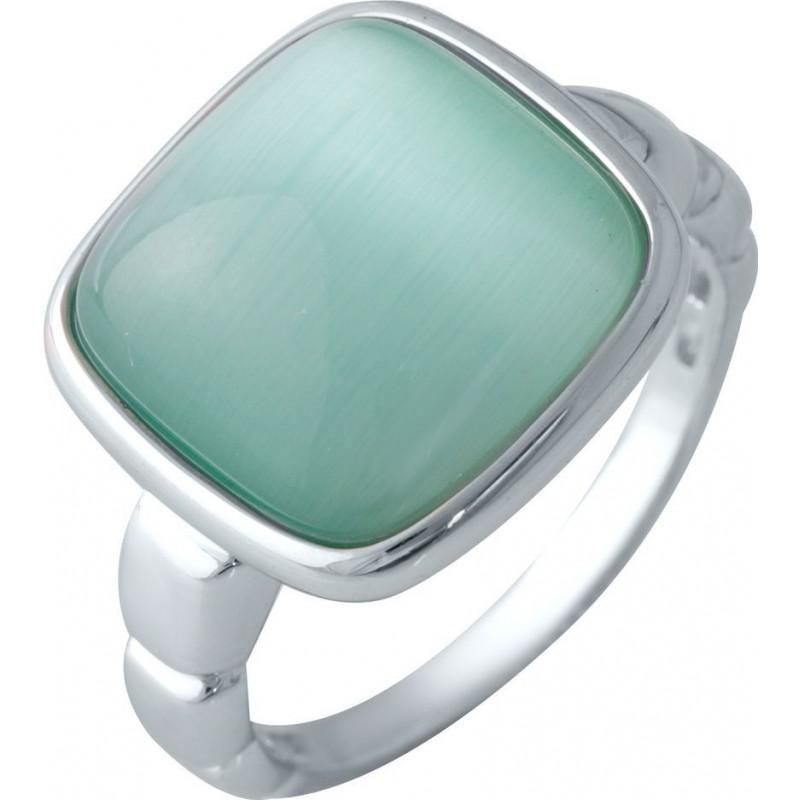 Серебряное кольцо SilverBreeze с кошачим глазом (2015581) 17.5 размер