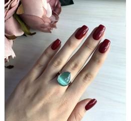 Серебряное кольцо SilverBreeze с кошачим глазом (2015932) 18 размер