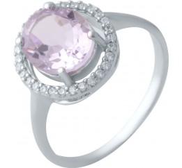 Серебряное кольцо SilverBreeze с натуральным аметистом (2020844) 17.5 размер