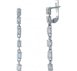 Серебряные серьги SilverBreeze с натуральным топазом (2028307)