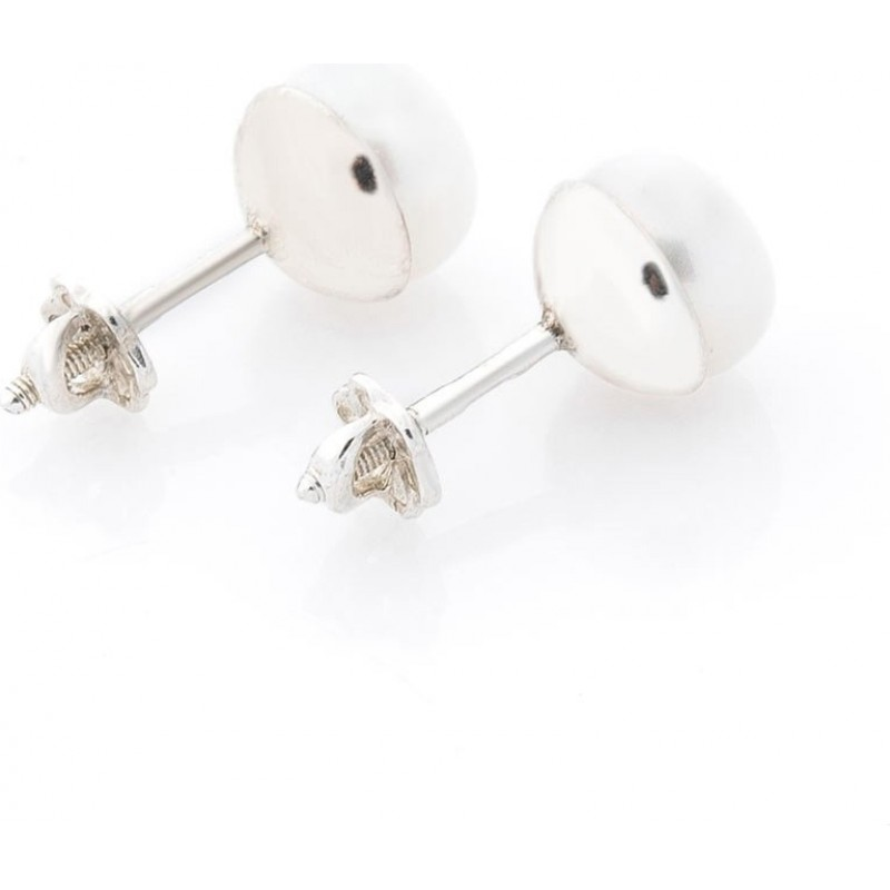 Серебряные серьги-пусеты с жемчугом SKL13-131626