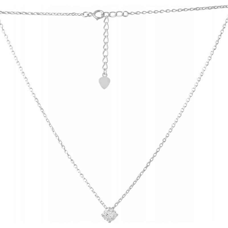 Серебряное колье SilverBreeze с фианитами (2073642) 400430 размер