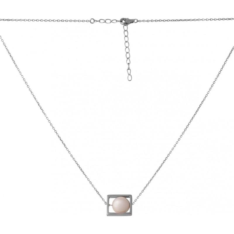 Серебряное колье SilverBreeze с натуральным жемчугом барочным 9.977ct (2071372) 450500 размер